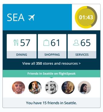 flightSpeak Live Itinerary - AIRPORT