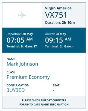 flightSpeak Live Itinerary - FLIGHT