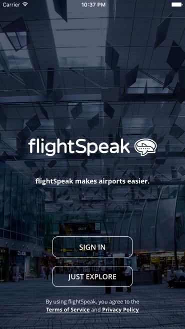 flightSpeak - new login